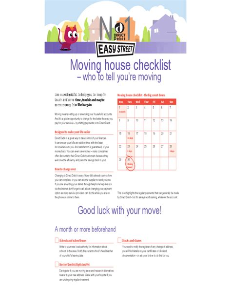 moving into house checklist house moving checklist template 5 free templates in pdf word excel