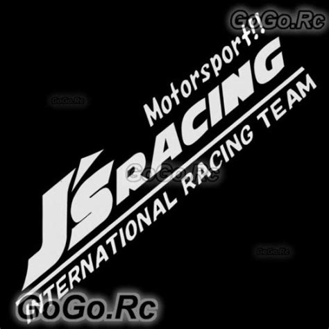 J S Racing Sticker by J S Racing Sticker Decal Silver Japan Honda Spoon Mugen