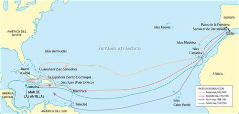 rutas de los barcos de cristobal colon mapa de los viajes de crist 243 bal col 243 n a am 233 rica mapa de