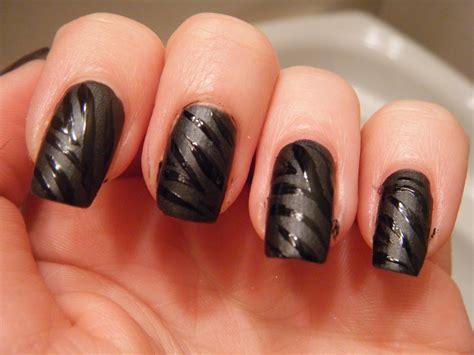 matte black nail designs hail s nails matte black zebra nails