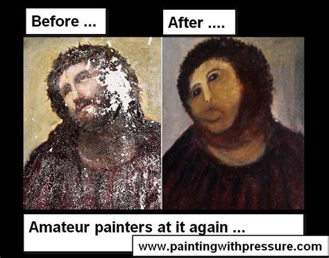 Ecce Homo Meme - wtf seriously botched ecce homo painting know your meme