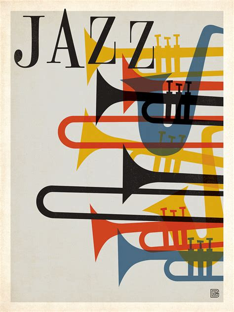 design large poster mid century jazz poster inspired by classic album cover