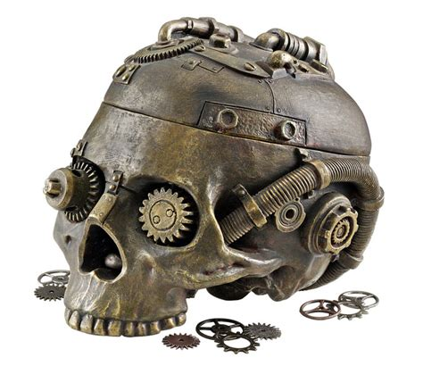 Evil Eye Home Decor by Steampunk Skull Containment Vessel The Green Head