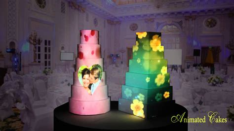 Wedding Cake Animation by Animated Cakes Projection Mapping Birthday Wedding