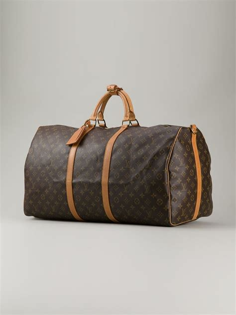 Bag Lv Monogram Brown Kode 9981 lyst louis vuitton monogram keepall 60 bag in brown
