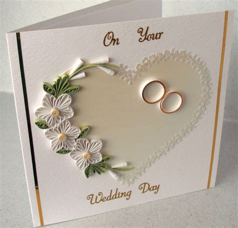 Handmade Paper Wedding Cards - quilled wedding congratulations card