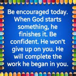 Won t god do it if he brings you to it he will see you through it