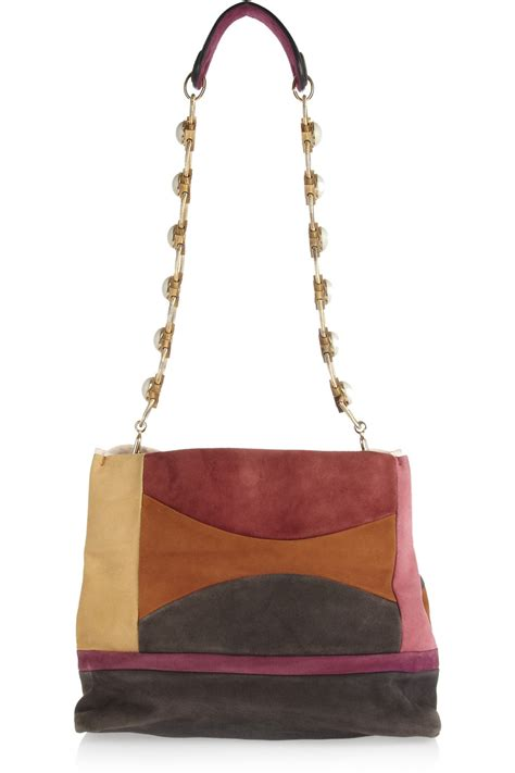 Patchwork Shoulder Bag - missoni patchwork leather shoulder bag in multicolor