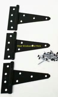 Heavy Duty Barn Door Hinges 5 Quot Heavy Duty Shed Hinges Set Of 3 Shed Barn Door Playhouse Treehouse Windows Ebay