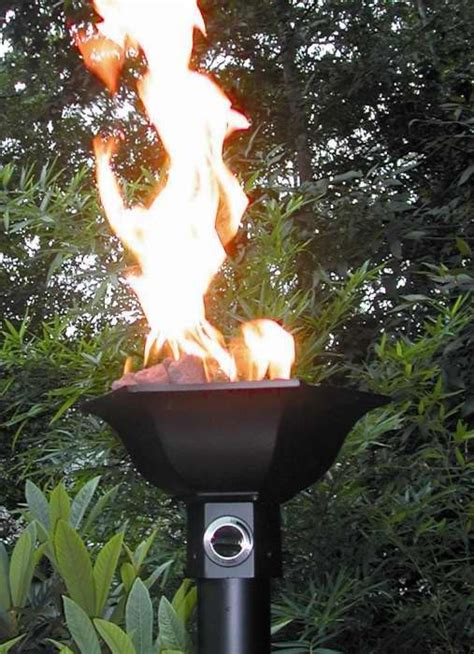 tiki torches backyard natural gas tiki torches around pool home pinterest