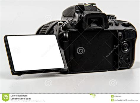 canon dslr flip screen dslr with flip screen for placement stock photo