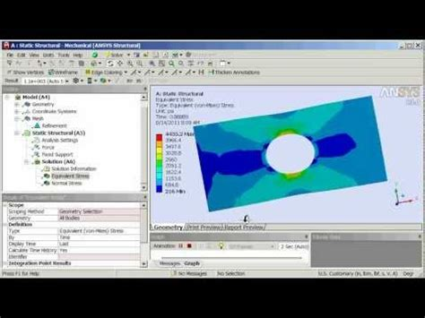 ansys work bench ansys workbench structural tutorial 1 youtube