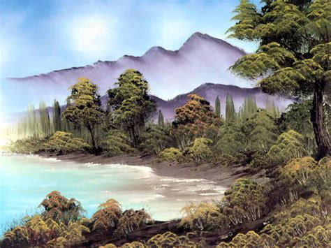 bob ross painting easiest colorful landscape paintings by bob ross from america