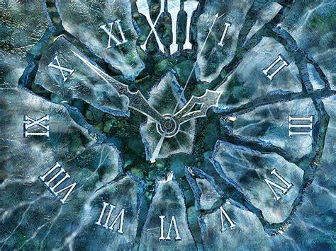 clock  screensavers ice clock   time