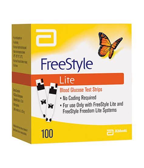 Refill Abbott Freestyle Lite Test Strips Isi 100 Abbott Freestyle Freedom Lite 100 Test Strips Buy