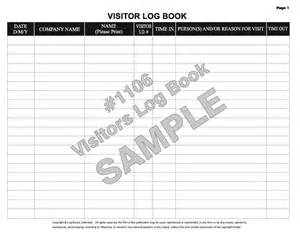 visitor log book template visitors log sheet book covers