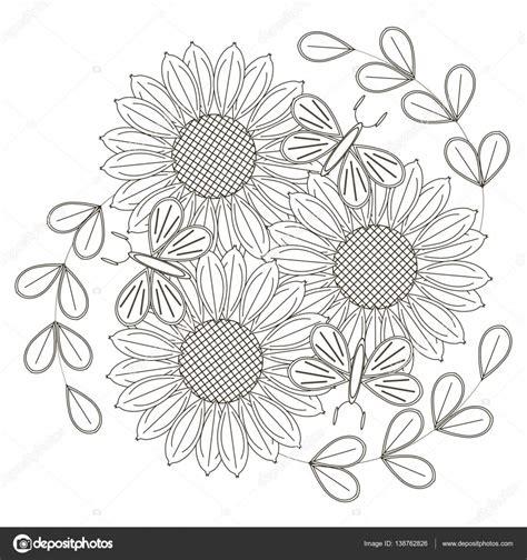 immagini in bianco e nero di fiori libro da colorare pagina farfalle e fiori immagini