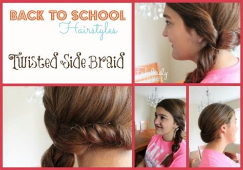 hairstyles to go back to school back to school hairstyles twisted side braid
