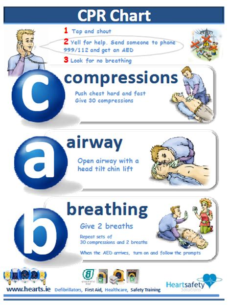 printable cpr instructions 2015 free cpr chart wicklow gaa games development building
