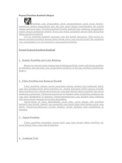 membuat proposal proyek cara membuat proposal tesis kualitatif