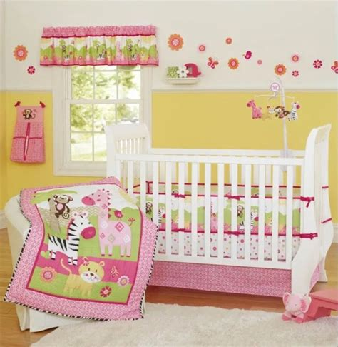 new 7 pieces beautiful pink zebra theme baby crib cot