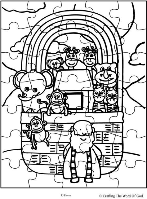 Noahs Ark Puzzle Activity Sheet Sheets Are A Great Way To  sketch template