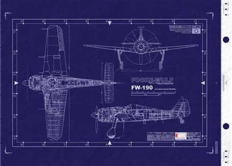 design a blueprint fw 190 wwii german luftwaffe