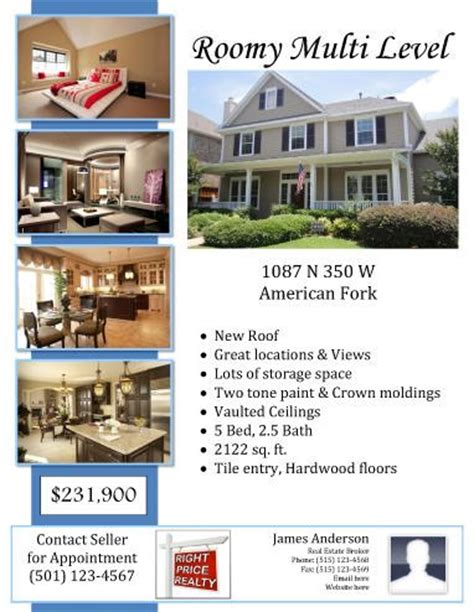 real homes template 10 best images about free flyer templates microsoft word