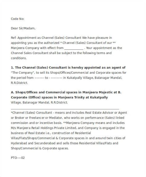 appointment letter sle sales executive appointment letter general manager sle 28 images
