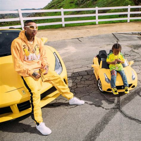 tyga yellow bentley like father like son tyga and king are too cool