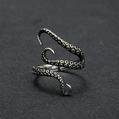 fashion jewelry titanium octopus ring in rings from