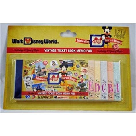 your wdw store disney notepad 40th anniversary of walt
