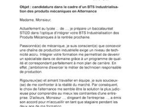 Lettre De Motivation Entreprise Bts Muc Alternance Lettre De Motivation Bts Maintenance Industrielle