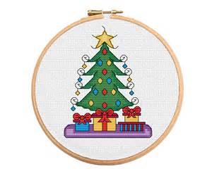 Blue Star Rug Christmas Presents Cross Stitch Pattern Cross Stitch