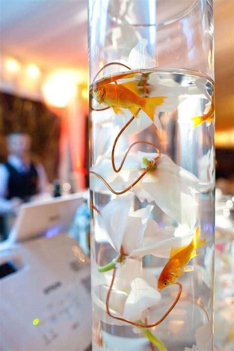 wedding centerpieces with fish best 25 goldfish centerpiece ideas only on fish wedding centerpieces fish