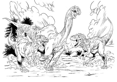 allosaurus coloring page cake ideas and designs