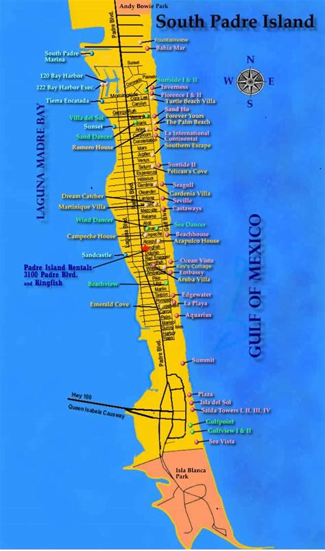 texas map south padre island island south padre island