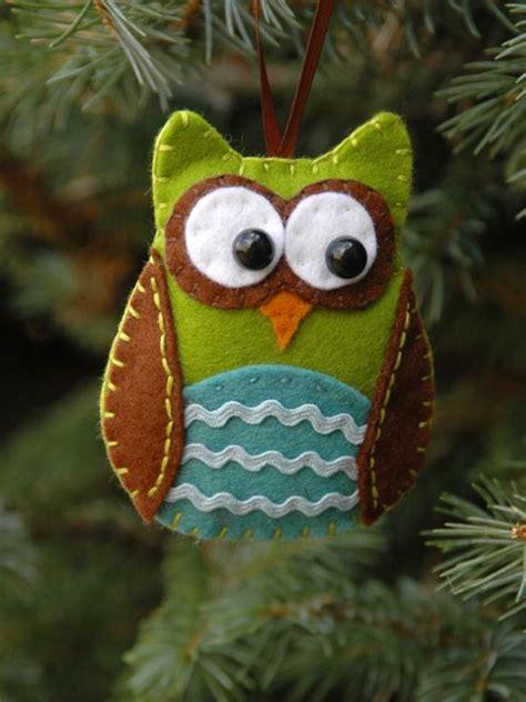 Owl Tree Ornaments - felt owl ornament