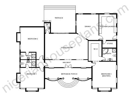 house designs and floor plans in nigeria 3 bedroom house plans and designs in nigeria