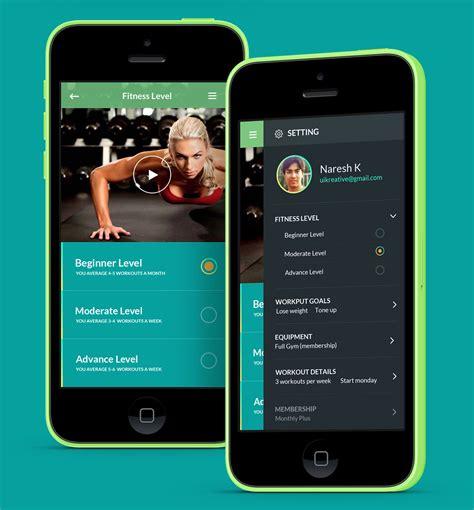 app design training adasse gym workout mobile app design on behance