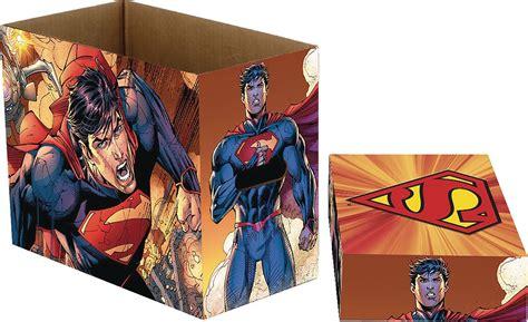 comic book storage dc comics short comic book storage box superman flying 5