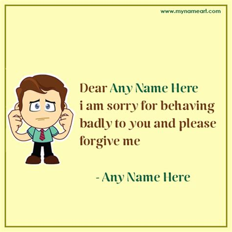 Apology Letter For Quotation sorry apology letter with name wishes greeting card