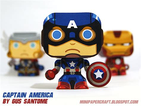 Captain America Papercraft - captain america papercraft printables prints and posters