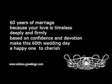 60th wedding anniversary wishes