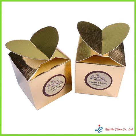 Paper Gift Box - golden paper gift boxes paper souvenir gift box golden