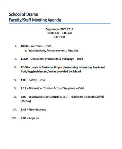 meeting agenda template 1 agenda pinterest template and sample