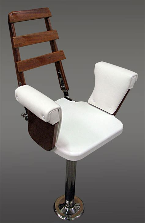 Hem Chaira standard teak helm chair by nautical design for your sport fishing experience