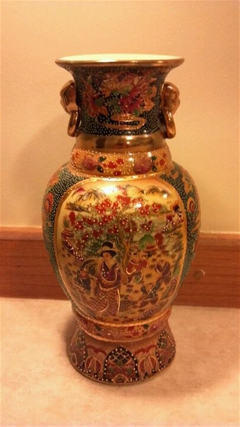 Antique Japanese Vase Value by Signed Satsuma Painted Antique Japanese Vase With