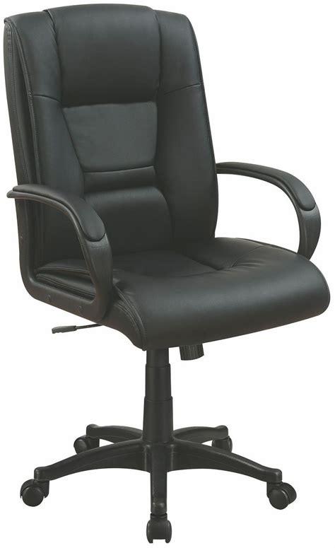 black vinyl office chair 881059 coaster furniture