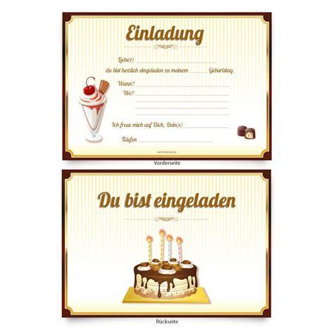 Karten Einladung by Einladungskarten Zum Geburtstag Einladungskarten Zum